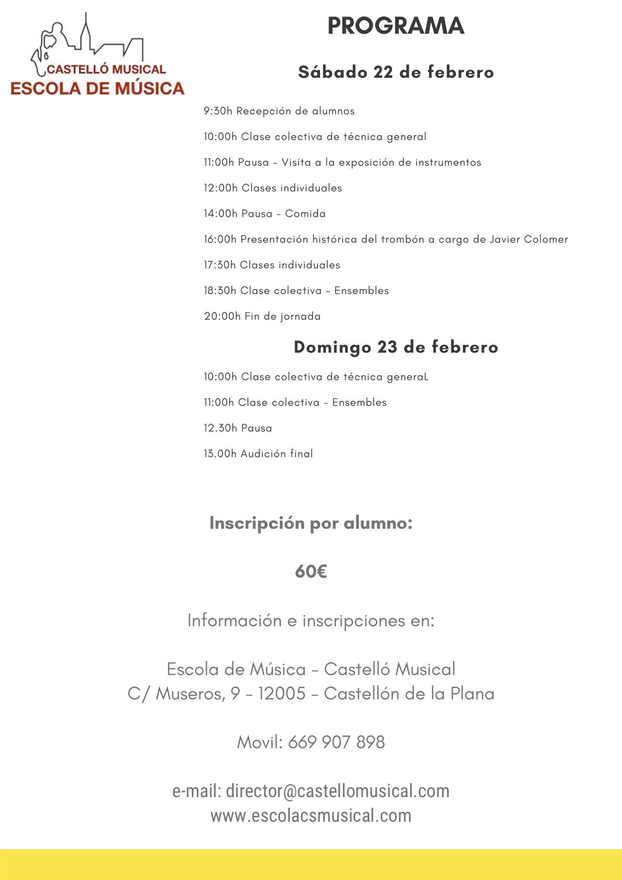 CURSO DE TROMBÓN CASTELLÓN - 2