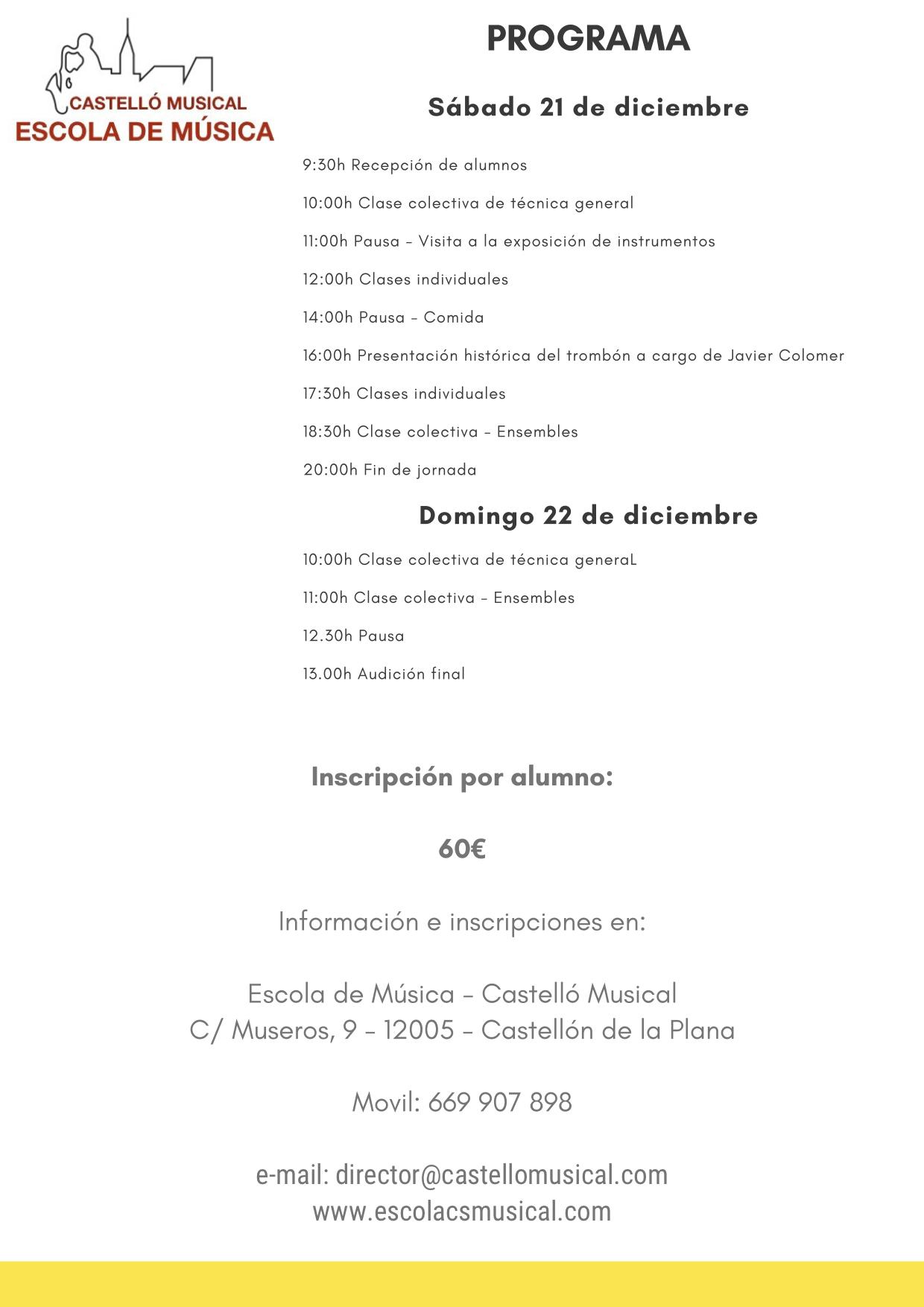 CURSO DE TROMBÓN CASTELLÓN-2